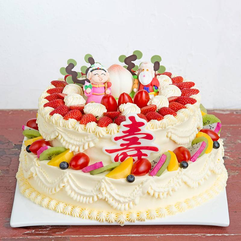 6 Pounds Double-Deck Flat Peach Cake To China
