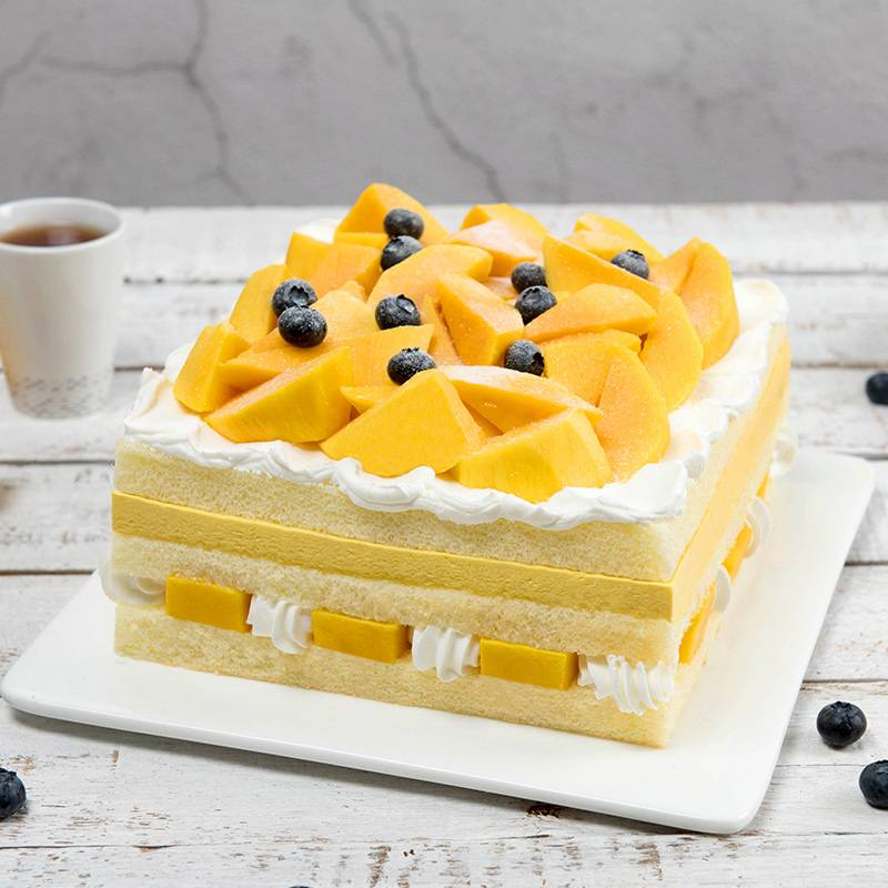 2 pounds Blue Berry & Mango Cake To China