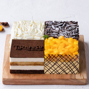 Mixed Cake with Mango Durian Chorcalate & Tiramisu