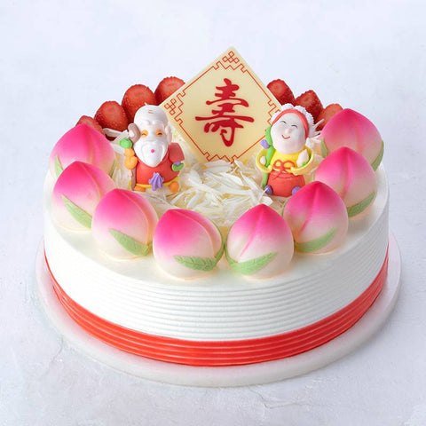 Double-Deck Flat Peach Cake To China