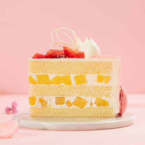 2 Pound Mango Strawberry Cake to Guangzhou