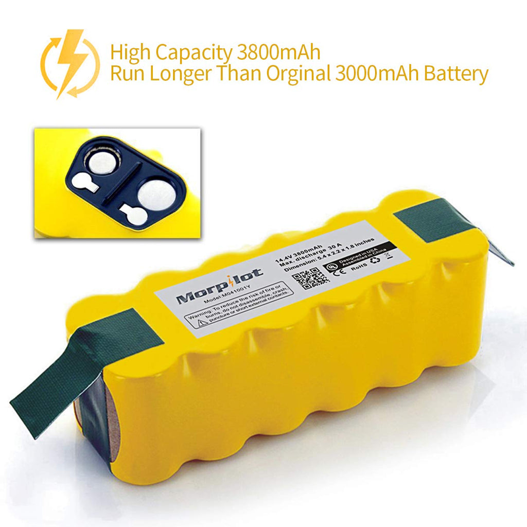 Keenstone 3.8Ah Ni-MH Battery Compatible with iRobot Roomba R3 500,600,700,800,900 Series