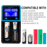 Battery Fast Smart Charger for Rechargeable Batteries