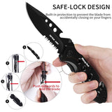 Tactical Pocket Knife Tactical Flashlight Set