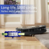 UK morpilot 14.4V X-Life Extended Battery w/ 2Pcs Brush - Compatible with Roomba 8 Series 886,880, 865,860,866,871,876 (Brush for Series 5 6 7)