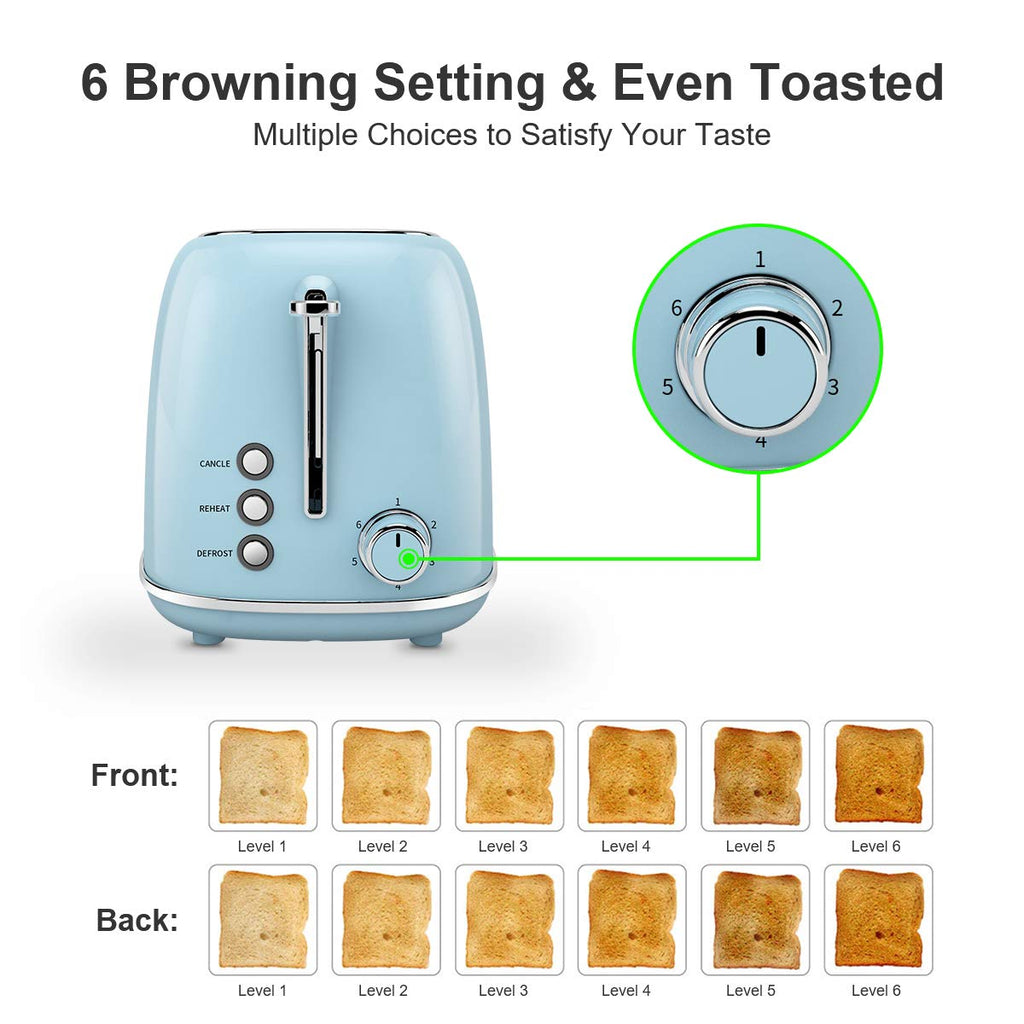 Retro Stainless Steel Bread Toaster