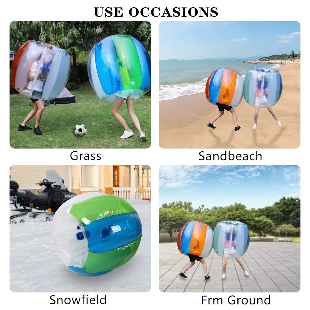Keenstone Inflatable Bumper Ball 1.2M/4ft 1.5M/5ft Diameter Bubble Soccer Ball Blow Up Toy in 5 Min Inflatable Bumper Bubble Balls for Adults or Child