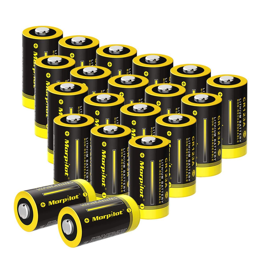 UK Morpilot 20 Pack 1600mAh CR123A Battery