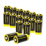 16 Pack 1500mAh Non-Rechargeable CR123A Batteries