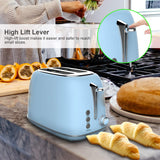 UK Automatic Toaster, Electric Toaster Made of Stainless Steel with 2 Wide Slots and 6 Toast Modes