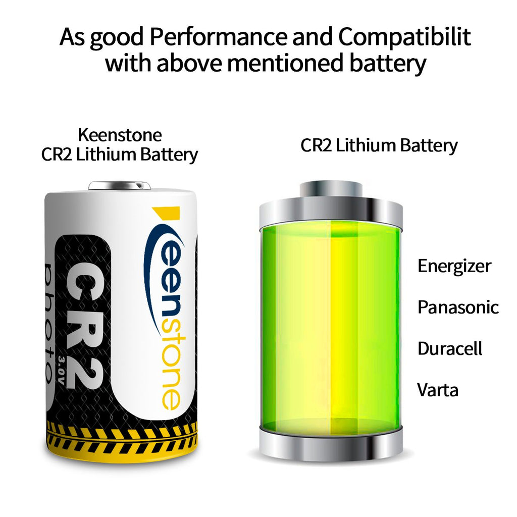 12Pcs CR2  Compatible CR15H270 3V CR2 850mAh Lithium Batteries