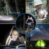 LED Bicycle Mountain Bike Lights Front and Back Set