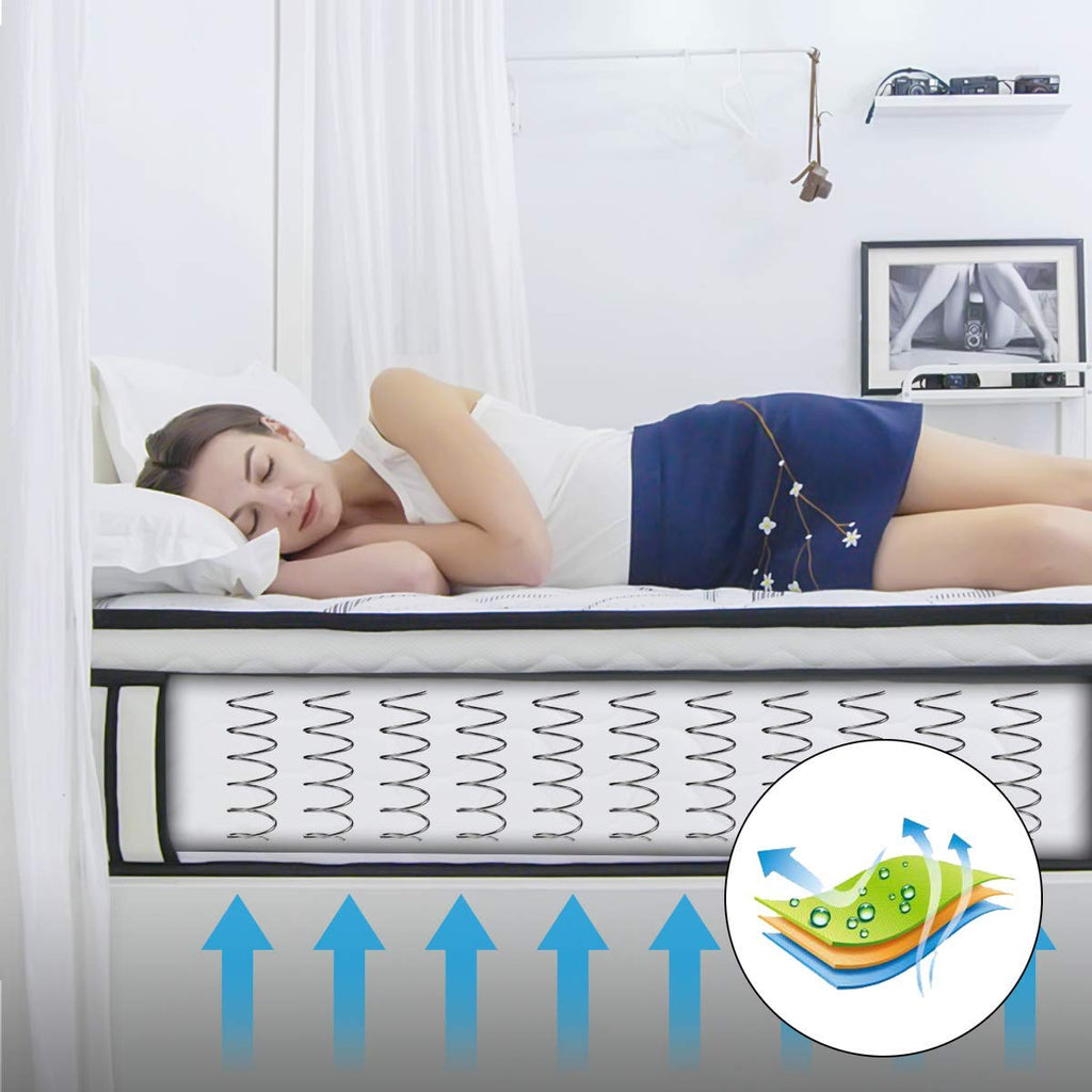 10 inch Memory Foam Mattress with Hybrid Innerspring Mattress