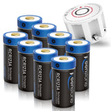 8Pcs 700mAh RCR123A Rechargeable Arlo Batteries