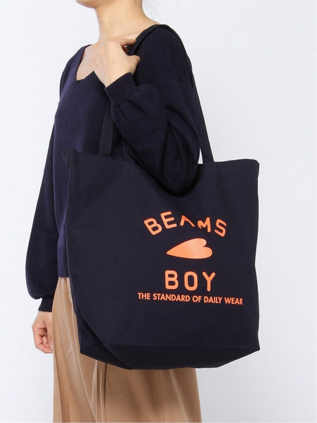 Beams Boy logo tote bag (L) (2色)