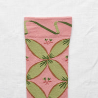 Bonne Maison - Knee-highs Peach Pink Ribbon