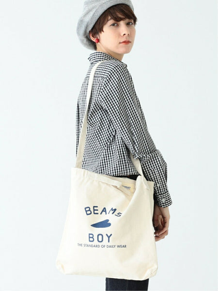 Beams Boy logo 2 way tote bag (2色)