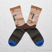 Bonne Maison - Socks Chestnut Face