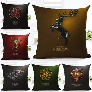 17 Game of Thrones Cotton Linen Home Decorative Throw Pillows 3D Cushion Covers by HBO