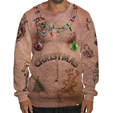 Ugly Christmas Sweater, Pullover and Sweatshirt 3D Digital Printed Graphic T Shirts