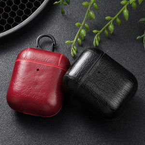 Leather Case Cover For EarBuds | EarBuds Charging Box Cases