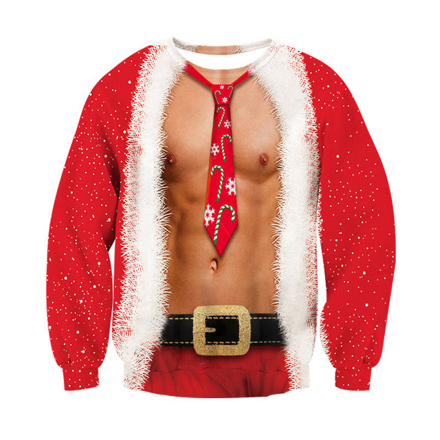 New Ugly Christmas Pullover and Sweatshirts 3D Digital Printed Graphic T Shirts