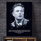 ELON MUSK  Art Canvas Poster Home Decor
