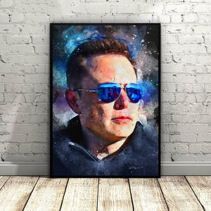 Elon Musk Art Canvas Poster Painting for Living Room