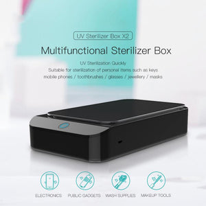 Portable Multi-Function UV Sterilizer & Phone Cleaner UV Box