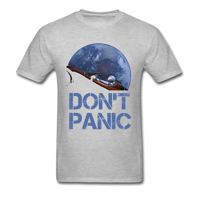 Don't Panic SpaceX Starman Unisex T Shirt