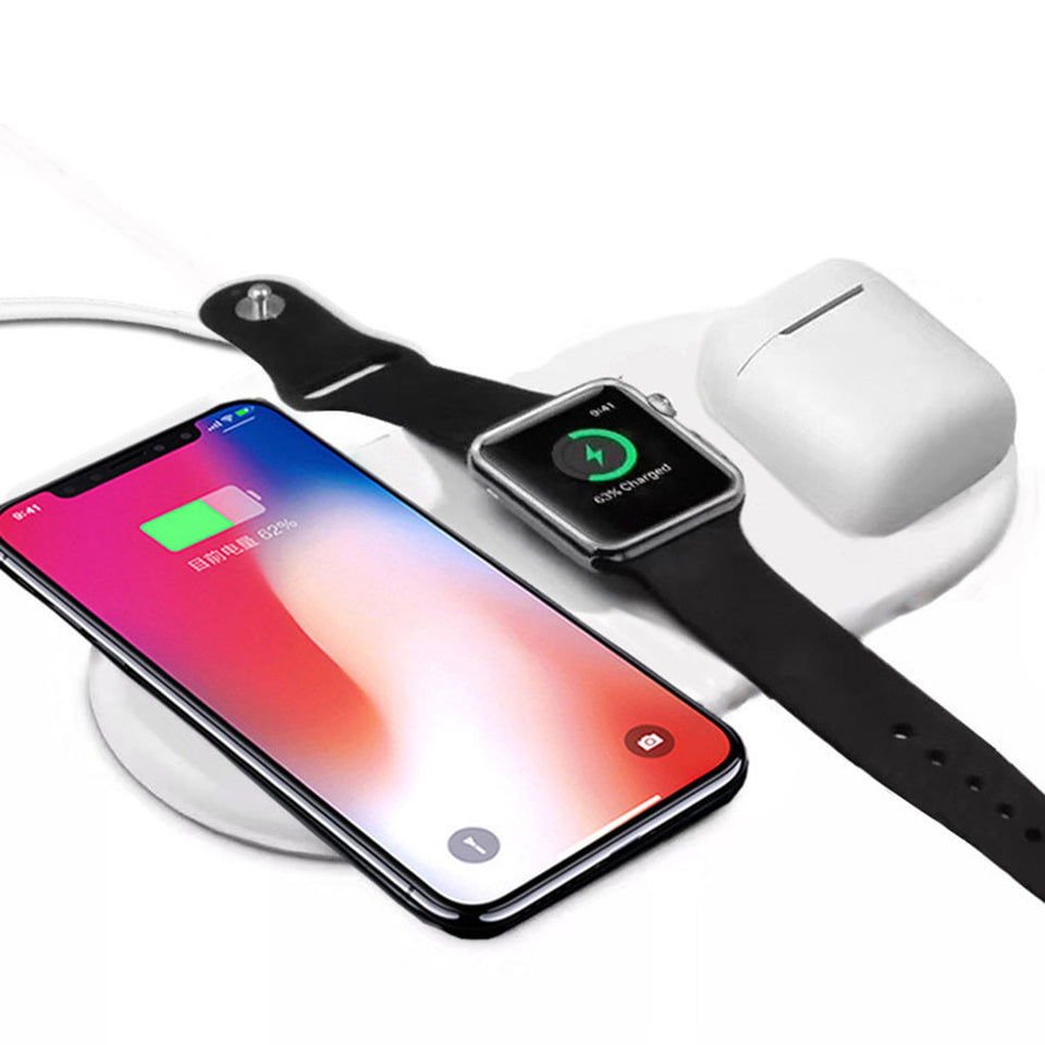 The best Air Power Clone with Qi Wireless Charging for iPhones, Apple Watch  & Airpods 2