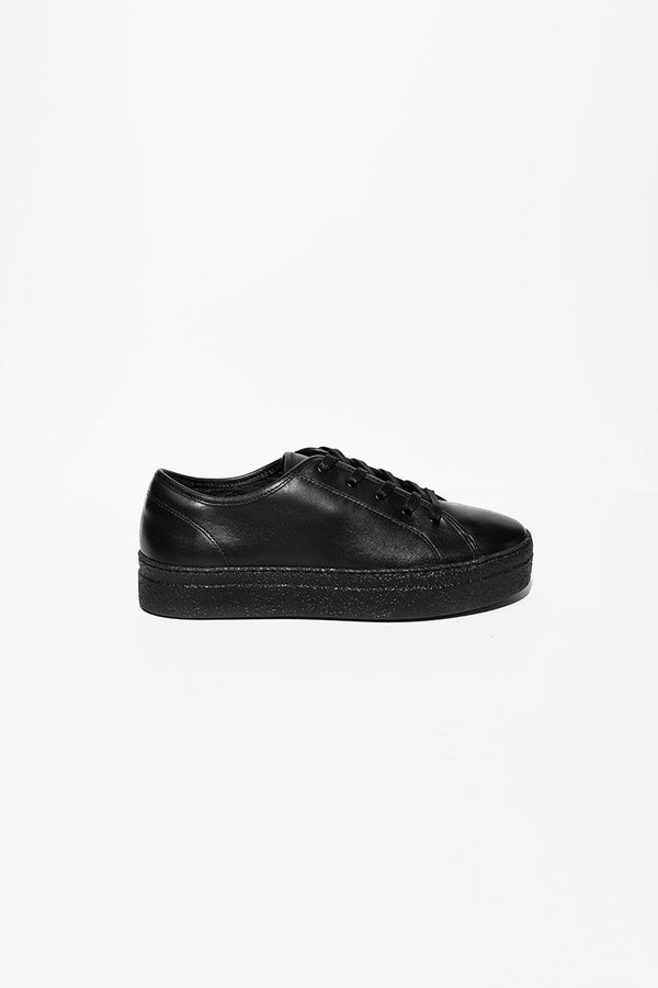 Minou - black leather sneakers
