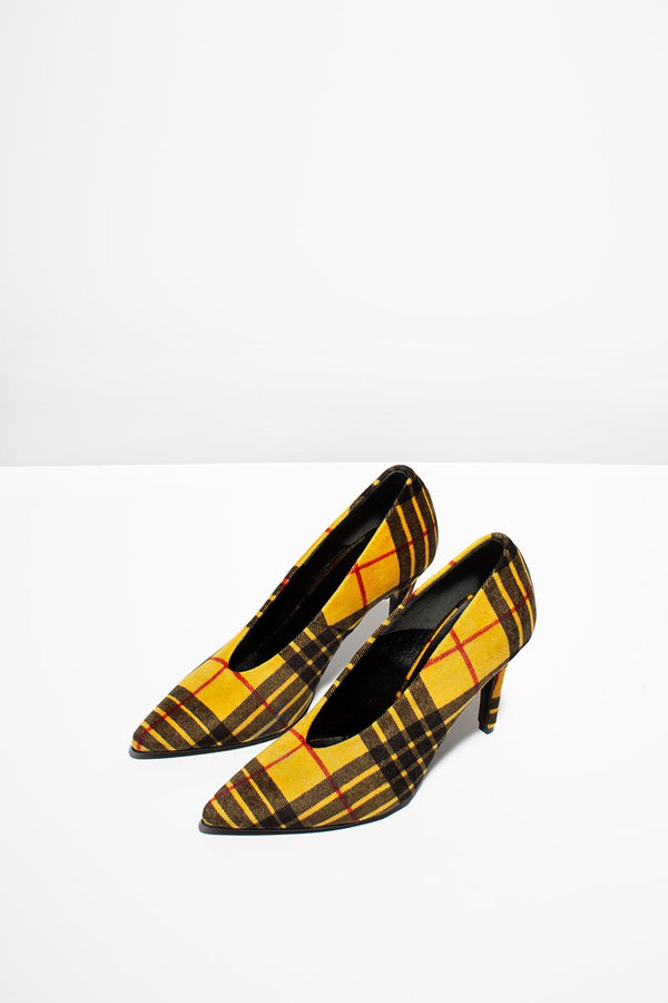 Pinch me - yellow checked (only size 37 left in stock)