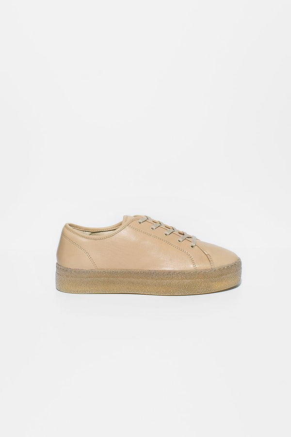 Minou - beige leather sneakers