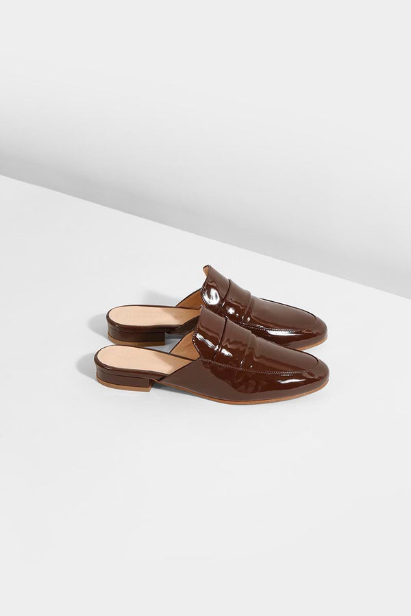 MY BOO - Brown patent (Only size 36 & 40 left in stock)
