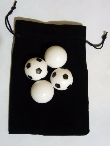 4 Foosballs - Black and White Soccer Style x 2 - Smooth White x 2 - Australia only - Better Buy Now