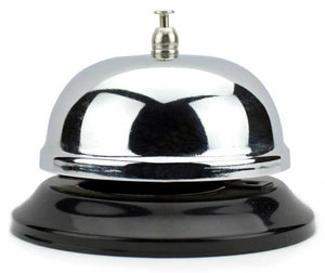 8.5cm Chrome Service Bell with Black Base - Australia only - Better Buy Now