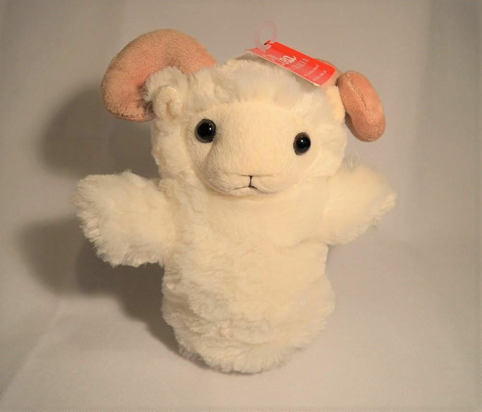 Sheep Hand Puppet soft plush toy by Elka - Australia only - Better Buy Now