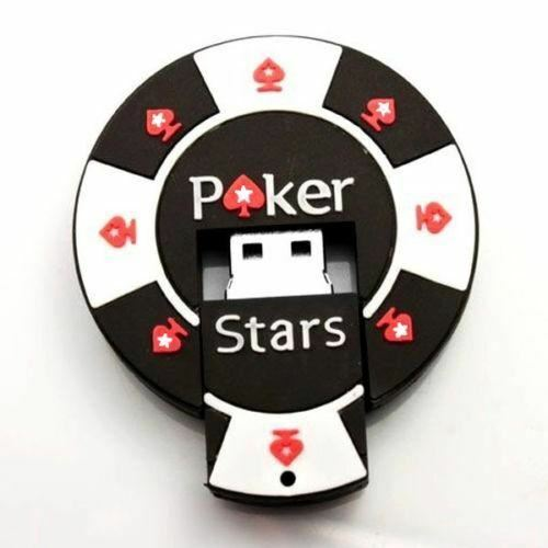 Poker Stars Casino Chip 8GB USB Flash Drive Memory Stick 8 GB Texas Holdem - Australia only - Better Buy Now