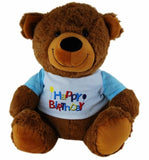 BEAR TAN W/SHIRT HAPPY BIRTHDAY BLUE - 30cm ELKA - AUSTRALIA only - Better Buy Now