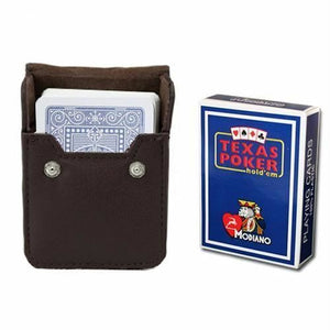 Blue Modiano Texas, Poker-Jumbo Cards w- Leather Case - Better Buy Now