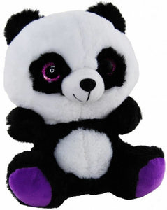 PANDA GLITTER PURPLE 23CM soft plush toy by Elka - Australia only