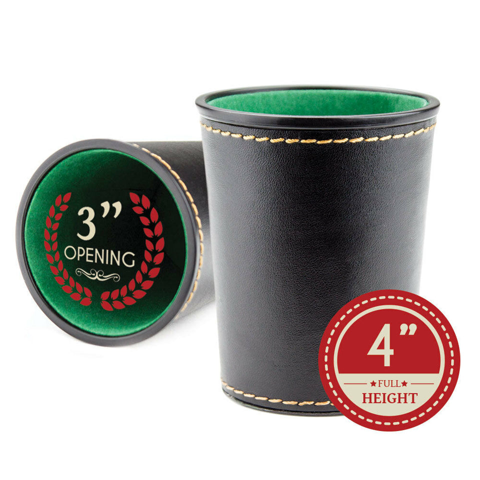 Synthetic Leather Dice Cup - pressure marks on outside of cup or small marks - Better Buy Now