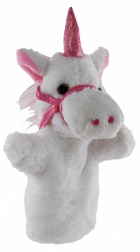 Unicorn Hand Puppet 25cm soft plush toy by Elka - Australia only - Better Buy Now