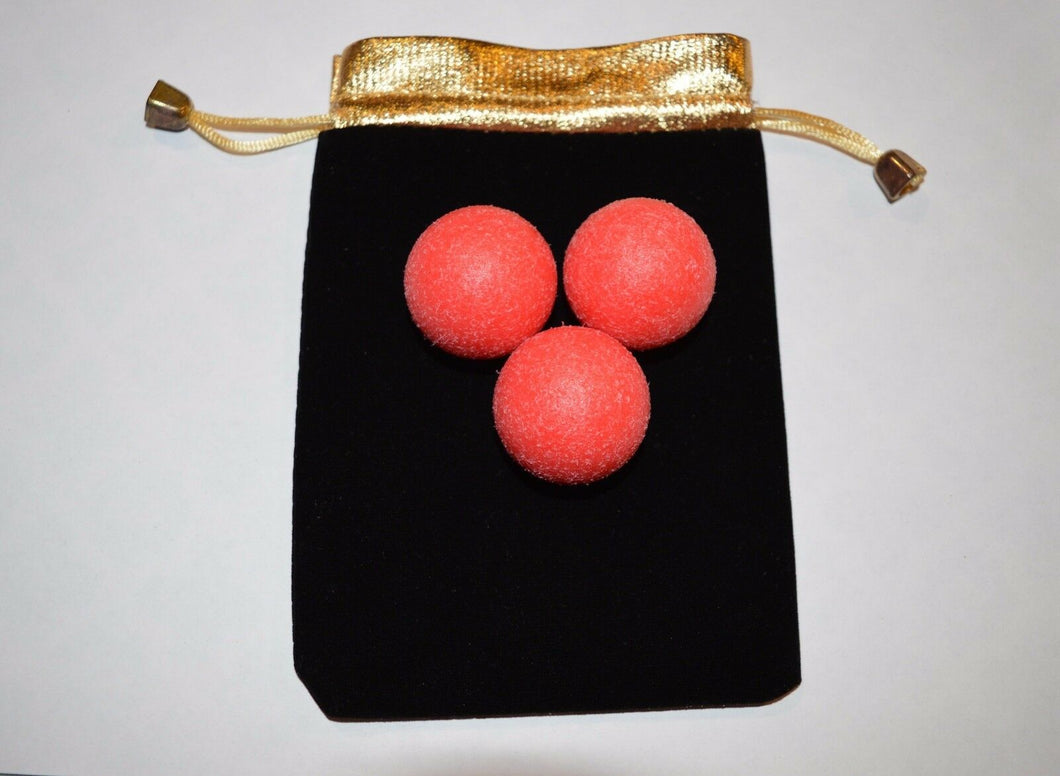 3 Foosballs - Red Textured Foosballs with Black Pouch - Australia only - Better Buy Now