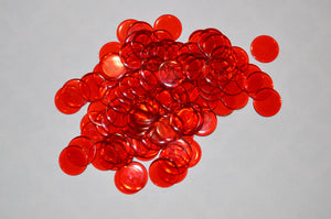 100 Premium Red Bingo Chips in Red Organza Bags - Australia only - Better Buy Now