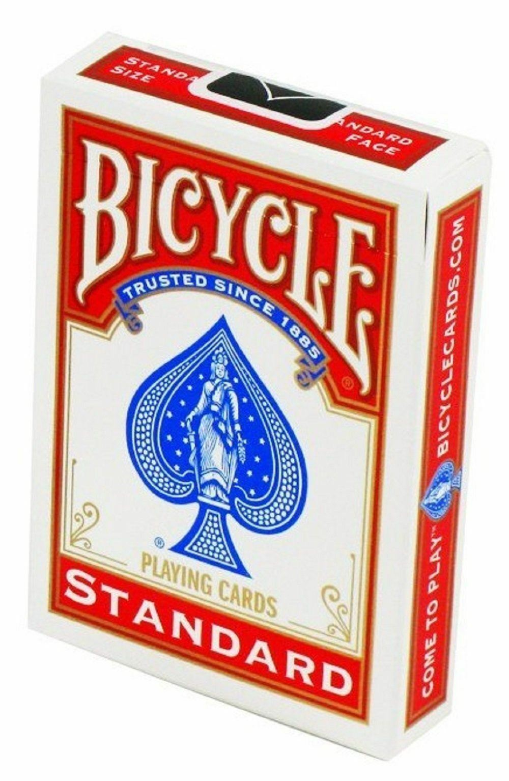 1 x Bicycle Poker Size Standard Index - Red - Australia only - Better Buy Now