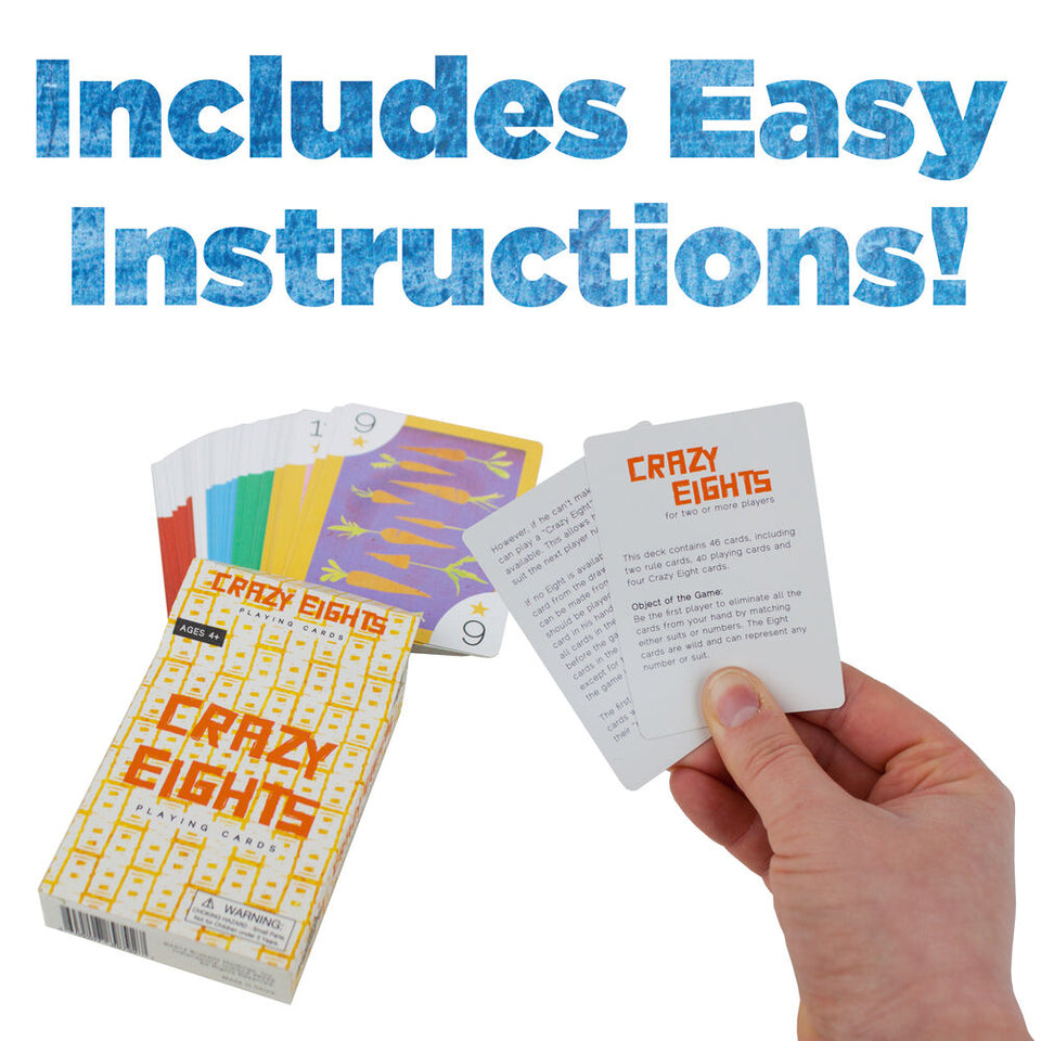 Crazy Eights Illustrated Card Game - Australia only - Better Buy Now