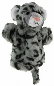 SNOW LEOPARD HAND PUPPET soft plush toy by Elka - Australia only - Better Buy Now