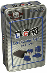 LCR, Left Center Right Dice Game- 25th Anniversary Collector's Tin- minor damage - Better Buy Now